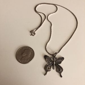 """Sterling silver necklace chain butterfly pendant jewelry 925 18"""" for Sale in Nashville, TN"""