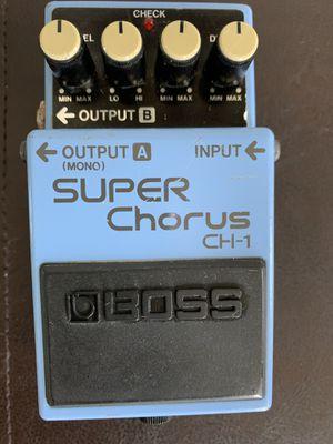 1994 BOSS CH-1 Super Chorus Guitar Effect Chorus Pedal for Sale in Wenham, MA