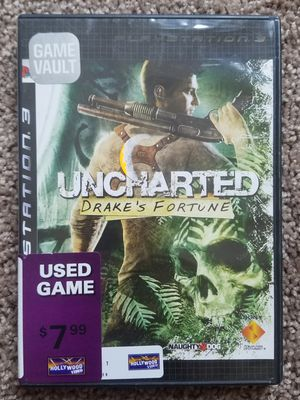 Uncharted Drake's fortune ps3 game for Sale in Tuscola, TX