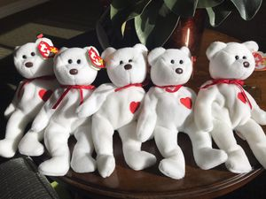 5 Valentino TY Beanie Babies with errors for Sale in Hoffman Estates, IL