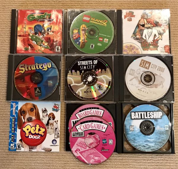 Bundle of 10 E Rated PC Games