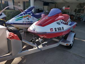 Kawasaki jet skis and trailer!!!!!!! Must go for Sale in Mesa, AZ
