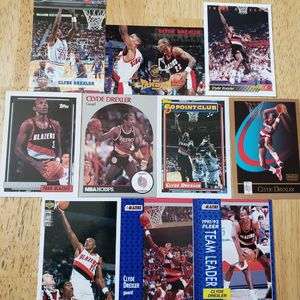 Clyde Drexler Portland Trail Blazers NBA basketball cards for Sale in Boring, OR