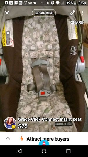 Graco infant car seat with base for Sale in Cocoa, FL