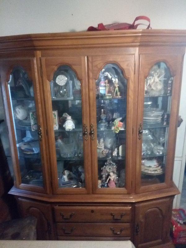 Antique China Cabinet 2 Piece