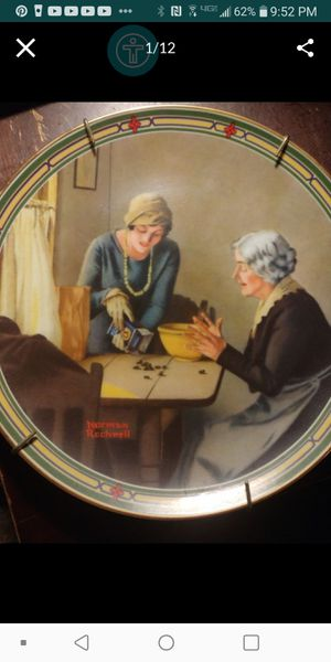 $5 each plates- Norman Rockwell collectors plates. for Sale in Fresno, CA