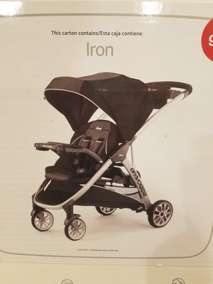 Chicco BravoFor2 Standing/Sitting Double Stroller - Iron for Sale in Garland, TX