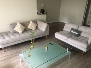Grey 3 piece couches and bench. Like new! for Sale in Miramar, FL