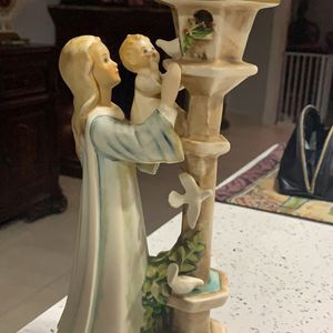 Antique Porcelain Madonna And Child Figurine Excellent Condition Goebel Brand Germany for Sale in Hialeah, FL
