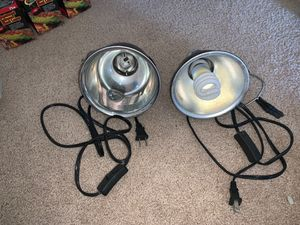 Reptile/Fish Light and Heat Lamp Set for Sale in San Diego, CA