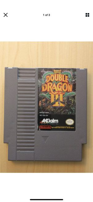 Double Dragon III: The Sacred Stones (Nintendo Entertainment System 1991) Tested. A1 for Sale in Glendale, AZ