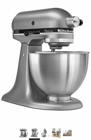 KitchenAid KSM75SL Classic Plus 4.5-Qt. Tilt-Head Stand Mixer, Silver for Sale in Bridgeton, MO