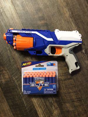 NERF N-Strike Elite Disruptor gun and bullets for Sale in Atlanta, GA