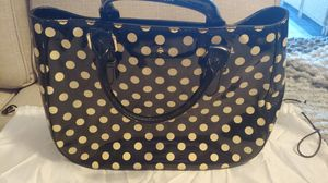 Authentic Kate Spade Patent Leather Polka Dot Purse for Sale in St. Petersburg, FL