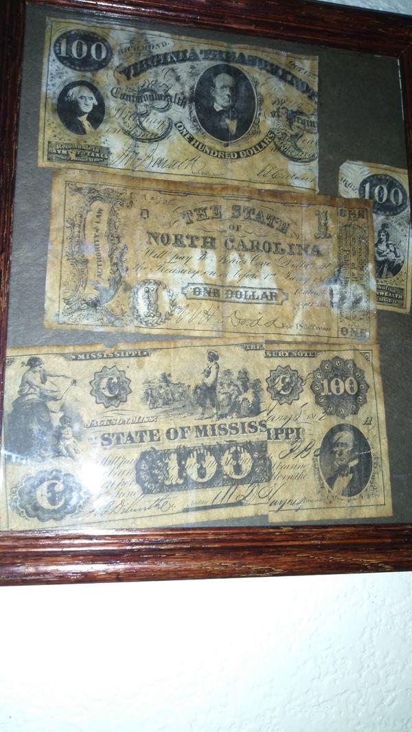 Counterfeit Confederate money