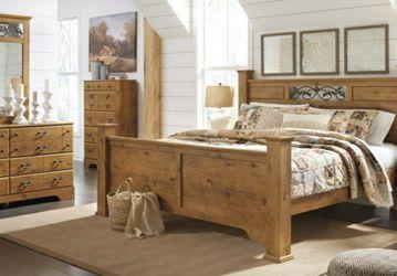 🎁BRAND NEW 🎗Bittersweet Light Brown Poster Bedroom Set 162 for Sale in Laurel,  MD
