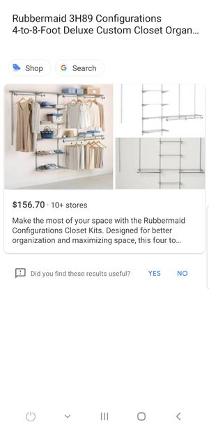 Rubbermaid closet organizer for Sale in Garfield Heights, OH