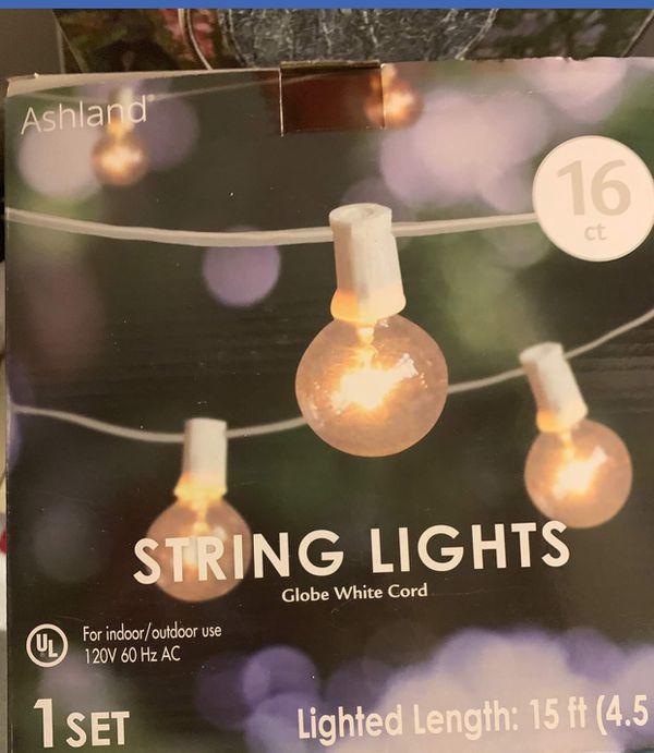 white string lights (1 set)