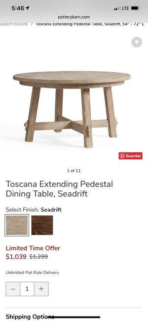Pottery barn toscana extending pedestal for Sale in Ontario, CA