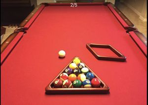 Olhausen Bordeaux 8 Foot Pool table for Sale in McKinney, TX