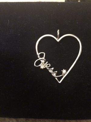 Sterling Silver Guess Pendant for Sale in Sun City, AZ