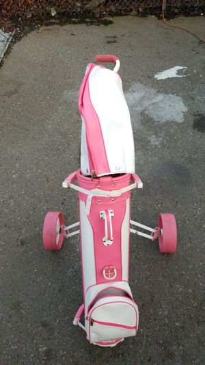 Custom caddy Pink White Golf clubs for Sale in Seattle, WA