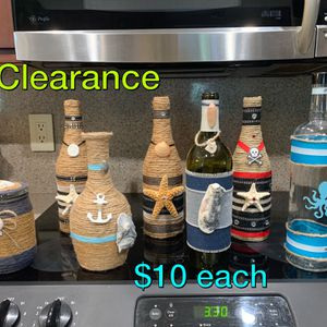 Hand decorated tropical, beachy, bottles. These are the last few I have an selling at a discount. for Sale in Port St. Lucie, FL