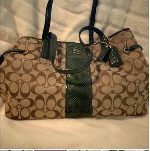 Coach Bag. Dark Green Snake Skin. for Sale in Spring, TX
