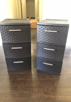 Set of plastic Storage drawers ( price is for both) for Sale in Azusa, CA