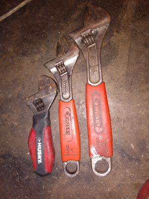 3-PC Husky Adjustable Wrench Set for Sale in Bell Gardens, CA