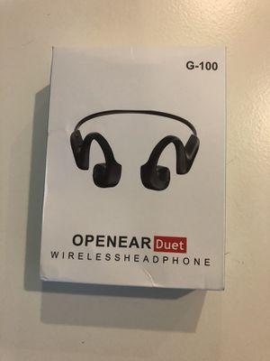 Brand NEW Open -ear Wireless Bone Conduction Headphone Bluetooth G-100 for Sale in Kirkland, WA