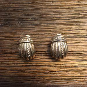 Judith Ripka Sterling Silver Pierced Earrings for Sale in Powder Springs, GA