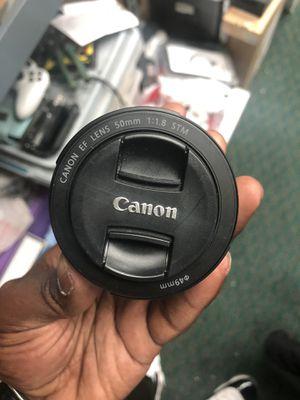 Lens, Camera Equipment Canon 50MM 1.18 STM Lens for Sale in Baltimore, MD