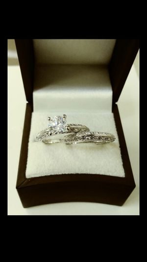 New with tag Solid 925 Sterling Silver ENGAGEMENT WEDDING Ring Set size 6 OR 8 $150 set OR BEST OFFER ** WE SHIP!!📦📫 ** for Sale in Phoenix, AZ