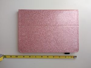 WOFALA iPad 2017 9.7 inch Case Glitter Folding Stand Smart Cover Stylus Holder Auto Wake/Sleep Faux Leather Protective Case Rose Gold for Sale in Canoga Park, CA