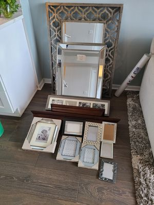 Various mirrors, wall mounted shelves, and picture frames for Sale in Chicago, IL