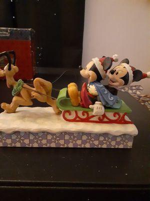 Disney showcase Mickey,minnie, and Pluto on sleigh for Sale in San Bernardino, CA