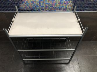 3 tier metal shoe rack with a fabric cover for Sale in New York,  NY