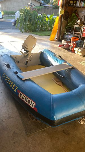 Yukon Inflatable boat with 6 hp Johnson for Sale in Stockton, CA