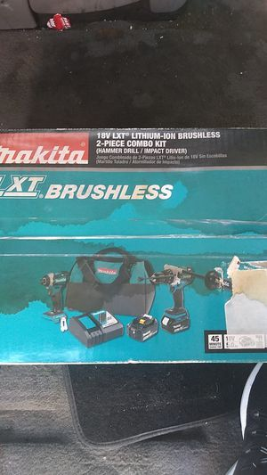 Makita 2-piece combo kit with hammer drill and impact wrench. Batteries as well for Sale in Salt Lake City, UT
