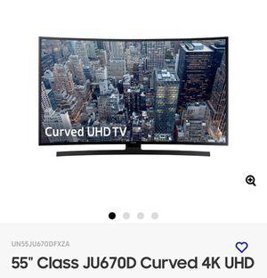 "Samsung smart TV curve 55"" 4K for Sale in San Jose, CA"