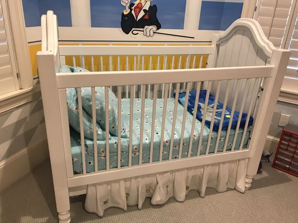 Baby Crib with Mattress Sheets and Changing Table