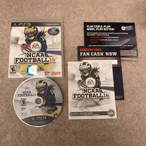 NCAA Football 14 ps3 playstation 3 college sports video game rare clean complete disc case manual for Sale in Burtonsville, MD