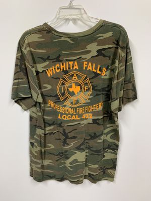 CAMO/CAMOUFLAGE AUTHENTIC FIREFIGHTER STREETWEAR T-SHIRT [size Lage] for Sale in Saginaw, TX
