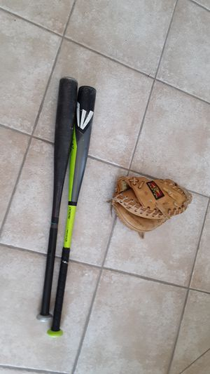 Looking to trade two bats and catchers mitt for youth glove for Sale in Los Angeles, CA