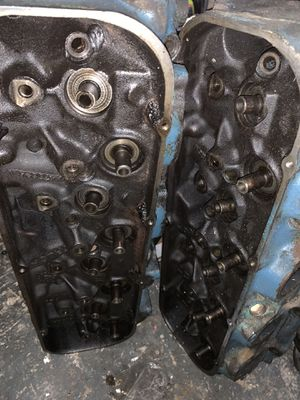 Chevy 402 2 bolt main block with heads and crankshaft plus parts for Sale in Watauga, TX