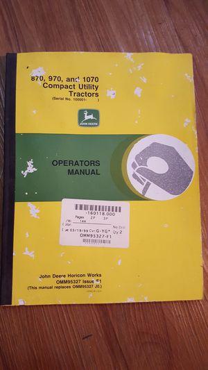 John Deere manual for Sale in Porter, TX