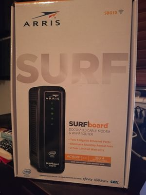 Arris Surfboard SBG10 Modem Wifi Router for Sale in Miami Beach, FL