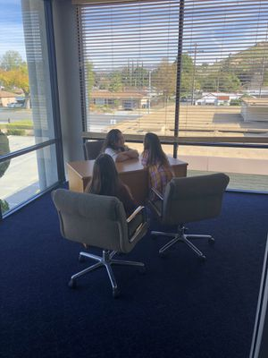Office Desk and 3 chairs (children not included) for Sale in Riverside, CA