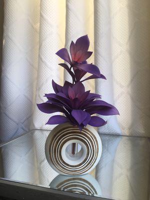 Minimalist White Mango Wood Vase with Glass Test Tube. for Sale in Royal Oak, MI